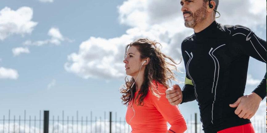 runners en pareja